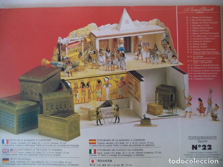 Coleccionismo Recortables: RECORTABLE TOUTANKHAMON.TUMBAS,RITOS,FUNERALES MAQUETA 20X41X27 - Foto 2 - 191878286
