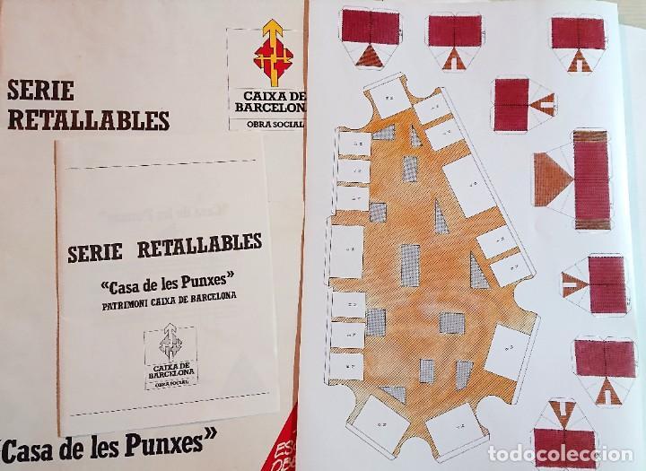 SERIE RETALLABLES · CASA DE LES PUNXES · CAIXA DE BARCELONA · JOSEP PUIG I CADAFALCH · MAQUETA (Coleccionismo - Recortables - Construcciones)