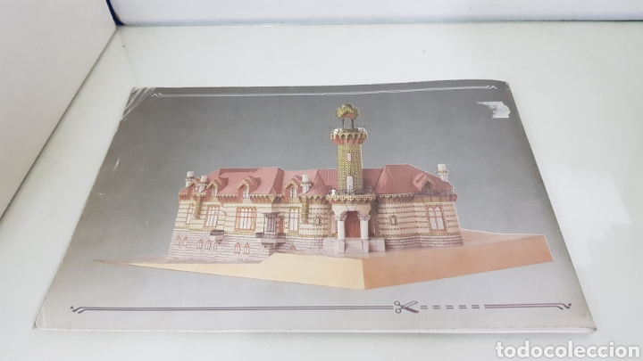 Coleccionismo Recortables: Gaudi EL CAPRICHO Comillas cantabria recortable medida libro 31x21,5cms - Foto 15 - 192796055