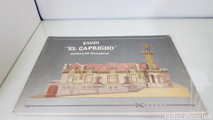 GAUDI EL CAPRICHO COMILLAS CANTABRIA RECORTABLE MEDIDA LIBRO 31X21,5CMS (Coleccionismo - Recortables - Construcciones)