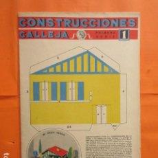 Coleccionismo Recortables: MI CASITA VASCA CONSTRUCCIONES CALLEJA PRIMERA SERIE DESPLEGADO 72X100 CM. Lote 193433142