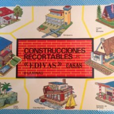 Coleccionismo Recortables: CONSTRUCCIONES RECORTABLES, CASASEDIVAS. CUADERNO DE 8 LAMINAS DE RECORTABLES DE CASAS . 34 X 24 CM.. Lote 193803537