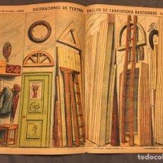 Coleccionismo Recortables: DECORACIONES DE TEATRO TALLER DE CARPINTERÍA N 505 PALUZIE. Lote 194359765