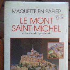 Coleccionismo Recortables: RECORTABLE LE MONT SAINT MICHEL SI ABRIR PARA CONSTRUIR. Lote 194399980
