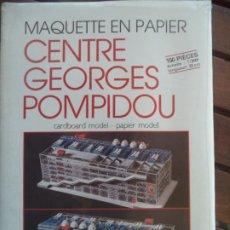 Coleccionismo Recortables: RECORTABLE CENTRE GEORGES POMPIDOU NUEVO SIN ABRI. Lote 194400533