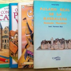 Coleccionismo Recortables: RECORTABLES POBLADO VIKINGO, CASTILLO MAGO, CATEDRAL Y PALACIO MAGDALENA SUSAETA Y ESTUDIO SANTANDER. Lote 194739651