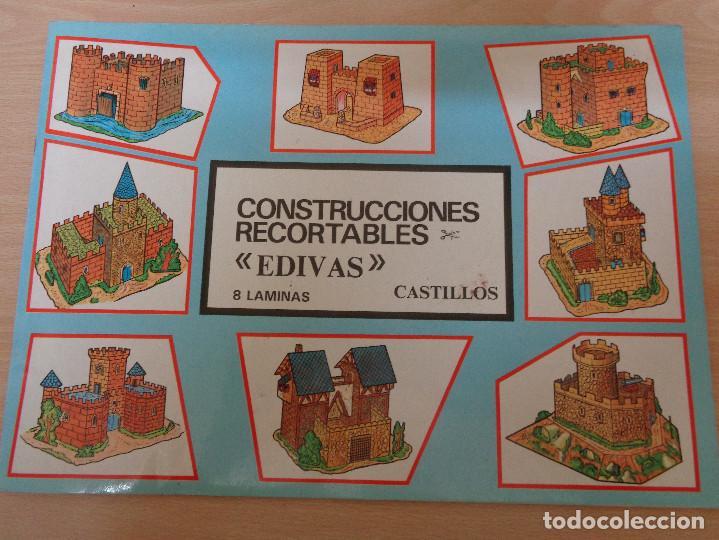 CONSTRUCCIONES RECORTABLES EDIVAS. CASTILLOS. BUEN ESTADO (Coleccionismo - Recortables - Construcciones)