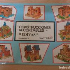 Coleccionismo Recortables: CONSTRUCCIONES RECORTABLES EDIVAS. CASTILLOS. BUEN ESTADO. Lote 195227527