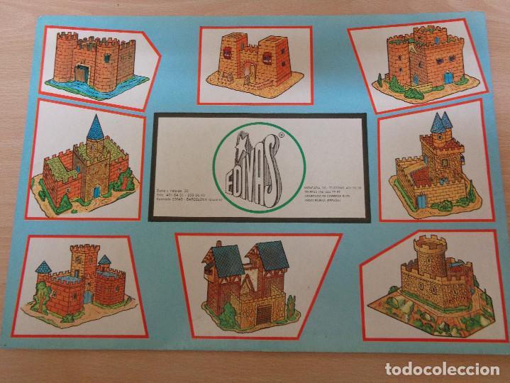 Coleccionismo Recortables: Construcciones recortables Edivas. Castillos. Buen estado - Foto 2 - 195227527