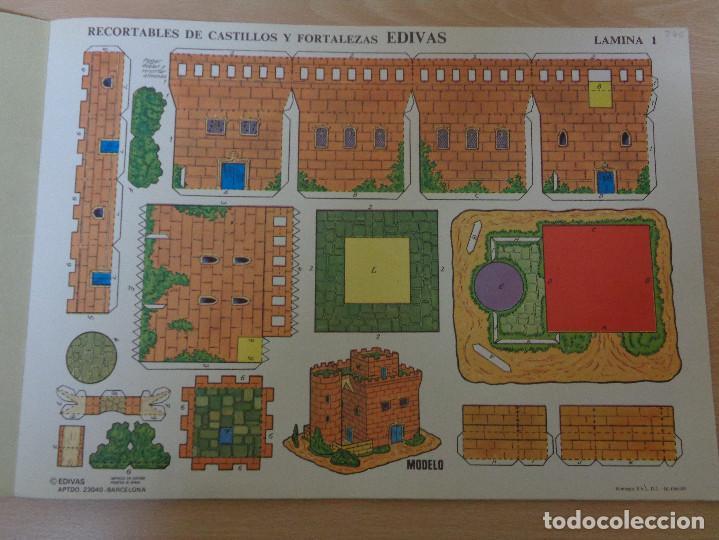 Coleccionismo Recortables: Construcciones recortables Edivas. Castillos. Buen estado - Foto 3 - 195227527