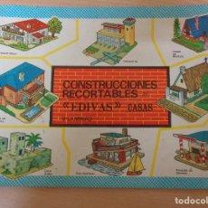 Coleccionismo Recortables: CONSTRUCCIONES RECORTABLES EDIVAS. CASAS. 8 LÁMINAS. MUY BUEN ESTADO. Lote 195227658