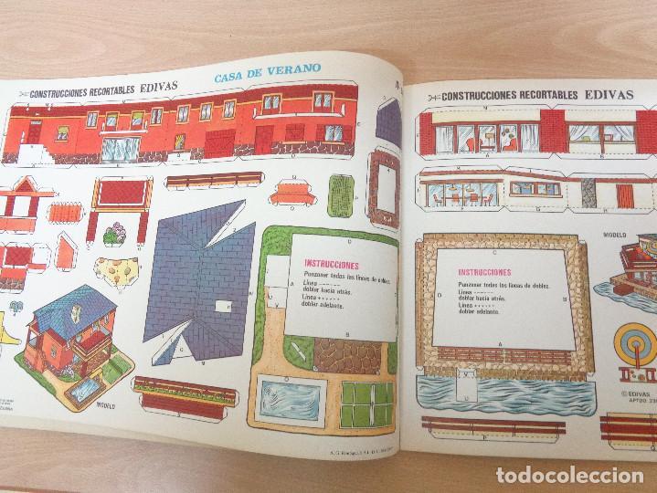Coleccionismo Recortables: Construcciones recortables Edivas. Casas. 8 láminas. Muy buen estado - Foto 3 - 195227658