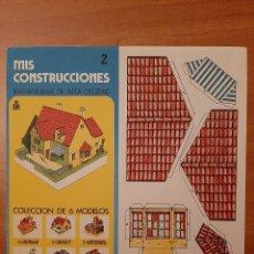 Coleccionismo Recortables: RECORTABLE MIS CONSTRUCCIONES : CHALET Nº 2. Lote 196555888