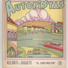 Coleccionismo Recortables: AUTOPISTAS RECORTE - JUGUETE Nº 5 EDITORIAL ROMA. Lote 197462530