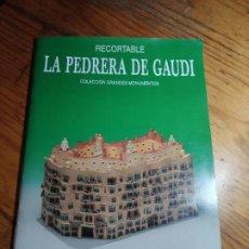 Colecionismo Recortáveis: LA PEDRERA DE GAUDI. EDICIONES MERINO. Lote 197497712