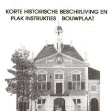 Coleccionismo Recortables: RECORTABLE MUSEO RIEN EN MIDDELHARNIS (HOLANDA). 1993. Lote 198582870