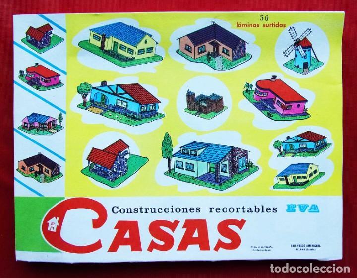CONSTRUCCIONES RECORTABLES CASAS . EVA. 50 LÁMINAS SURTIDAS. AÑO: 1965. ED. VASCO AMERICANA. (Coleccionismo - Recortables - Construcciones)