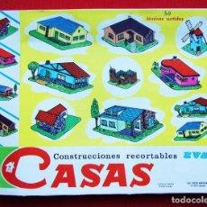 Coleccionismo Recortables: CONSTRUCCIONES RECORTABLES CASAS . EVA. 50 LÁMINAS SURTIDAS. AÑO: 1965. ED. VASCO AMERICANA. . Lote 199152598
