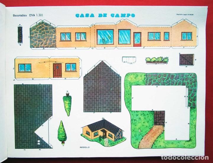 Coleccionismo Recortables: CONSTRUCCIONES RECORTABLES CASAS . EVA. 50 LÁMINAS SURTIDAS. AÑO: 1965. ED. VASCO AMERICANA. - Foto 2 - 199152598