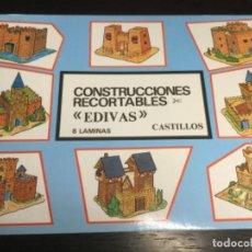 Coleccionismo Recortables: ÁLBUM 8 LÁMINAS DE CASTILLOS — RECORTABLES EDIVAS - (REF. 28). Lote 199250123