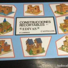 Coleccionismo Recortables: ÁLBUM 8 LÁMINAS DE CASTILLOS — RECORTABLES EDIVAS - (REF. 29). Lote 199250318