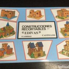 Coleccionismo Recortables: ÁLBUM 8 LÁMINAS DE CASTILLOS — RECORTABLES EDIVAS - (REF. 30). Lote 199250527