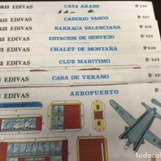Coleccionismo Recortables: 8 LAMINAS CONSTRUCCIONES RECORTABLES EDIVAS Nº 521 AL 528 - (REF. 66). Lote 199263530