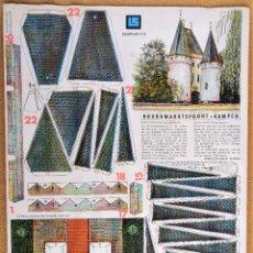 Coleccionismo Recortables: RECORTABLE PUERTA DE LA CIUDAD. HOLANDA 1989 . Lote 200071717