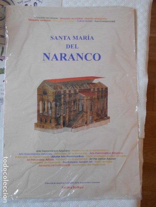 SANTA MARIA DEL NARANCO. MAQUETA RECORTABLE. ARTE PRERROMANICO ASTURIANO. COLECCION DE MAQUETAS RECO (Coleccionismo - Recortables - Construcciones)