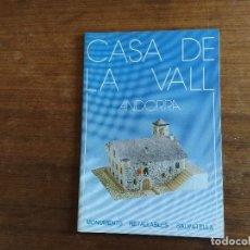 Colecionismo Recortáveis: CASA DE LA VALL ANDORRA MONUMENTOS RECORTABLES SALVATELLA. Lote 203373013