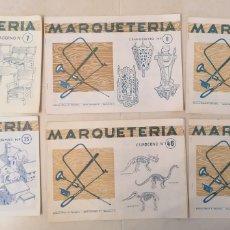 Coleccionismo Recortables: LOTE 6 CUADERNOS MARQUETERÍA 7, 8, 9, 25, 46, 49 ED. MIGUEL A. SALVATELLA BARCELONA 1960. Lote 203586540