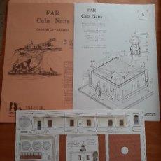 Coleccionismo Recortables: RECORTABLE FAR CALA NANS - CADAQUÉS - GIRONA. Lote 204231617