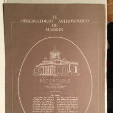 Coleccionismo Recortables: RECORTABLE EL OBSERVATORIO ASTRONOMICO MADRID. Lote 205200703