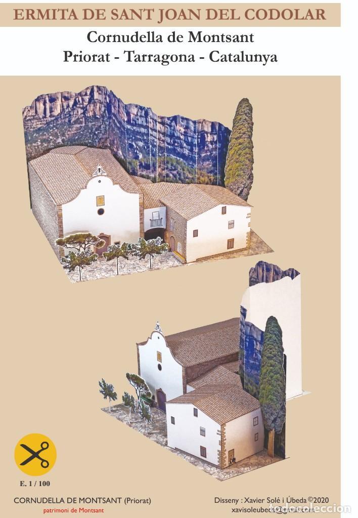 MAQUETA RECORTABLE DE LA ERMITA DE SANT JOAN DEL CODOLAR ( TARRAGONA ) (Coleccionismo - Recortables - Construcciones)