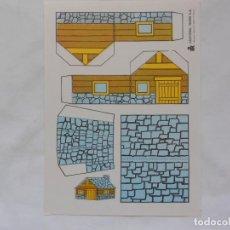 Coleccionismo Recortables: PEQUEÑO RECORTABLE TAMAÑO A5 - CABAÑA - EDIT. ROMA. Lote 205566557