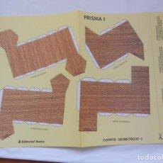 Coleccionismo Recortables: RECORTABLE CUERPOS GEOMETRICOS 2 - PRISMA I - EDIT. ROMA - NUEVO - RARO. Lote 205566762