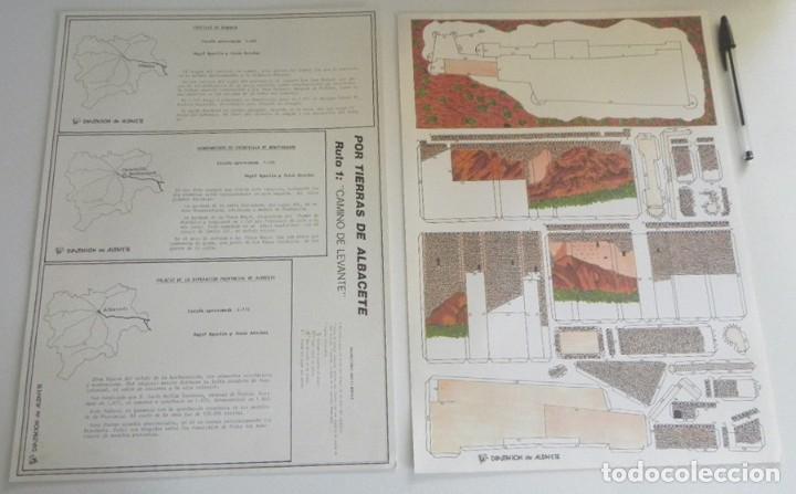 Coleccionismo Recortables: RECORTABLES DE ALBACETE PARA EXPO92 SEVILLA EXPOSICIÓN UNIVERSAL 1992 EXPO CASTILLO ALMANSA PALACIO - Foto 6 - 206419523