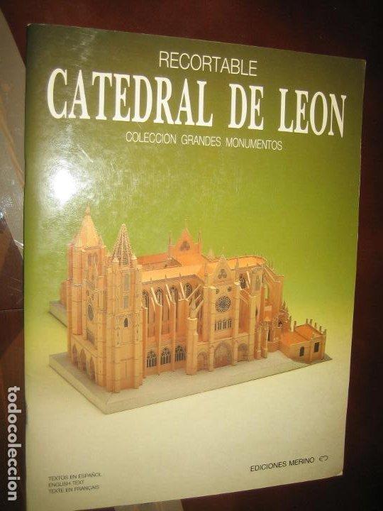 RECORTABLE CATEDRAL DE LEON (Coleccionismo - Recortables - Construcciones)