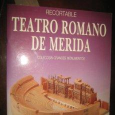 Coleccionismo Recortables: RECORTABLE TEATRO ROMANO DE MERIDA. Lote 206939488