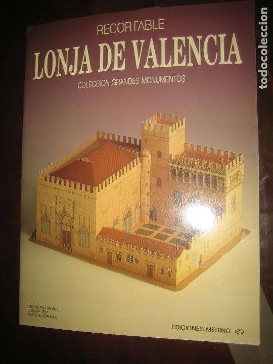 RECORTABLE LONJA DE VALENCIA (Coleccionismo - Recortables - Construcciones)