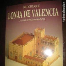 Coleccionismo Recortables: RECORTABLE LONJA DE VALENCIA. Lote 206939523