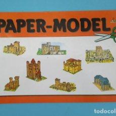 Coleccionismo Recortables: RECORTABLE PAPER-MODEL CASTILLOS EDICIONES CON-BEL, COMPLETO 8 HOJAS NUEVO. Lote 207280906