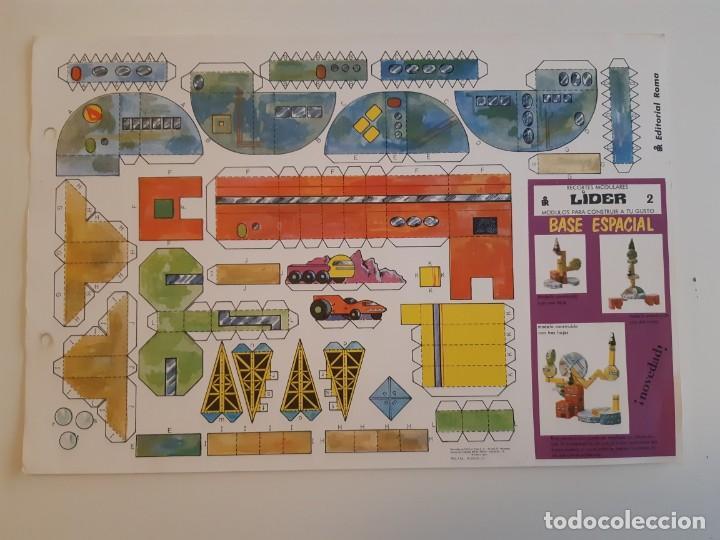 RECORTES MODULARES LÍDER AÑOS 70 CASTILLO/REFUGIO/FUERTE/BASE ESPACIAL (Coleccionismo - Recortables - Construcciones)