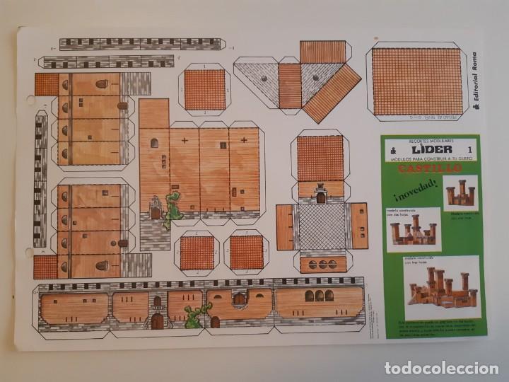 Coleccionismo Recortables: Recortes Modulares Líder años 70 Castillo/Refugio/Fuerte/Base Espacial - Foto 2 - 207648041