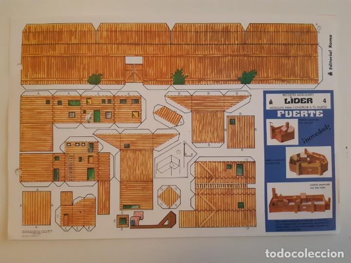 Coleccionismo Recortables: Recortes Modulares Líder años 70 Castillo/Refugio/Fuerte/Base Espacial - Foto 3 - 207648041
