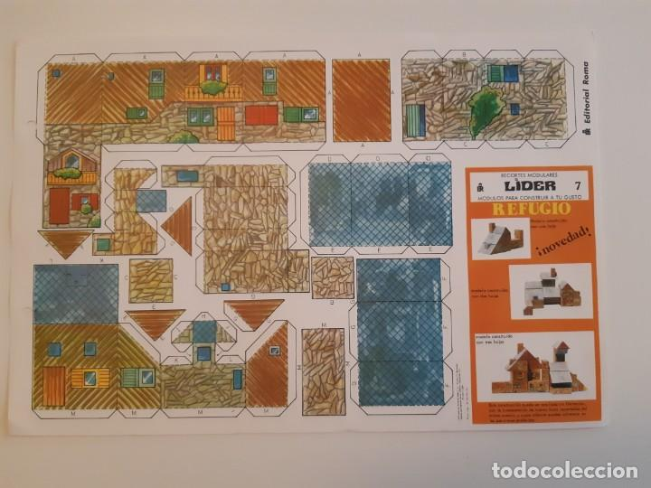 Coleccionismo Recortables: Recortes Modulares Líder años 70 Castillo/Refugio/Fuerte/Base Espacial - Foto 4 - 207648041