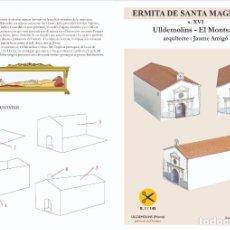 Coleccionismo Recortables: MAQUETA RECORTABLE DE LA ERMITA DE SANTA MAGDALENA ( ULLDEMOLINS-TARRAGONA ). Lote 228244745