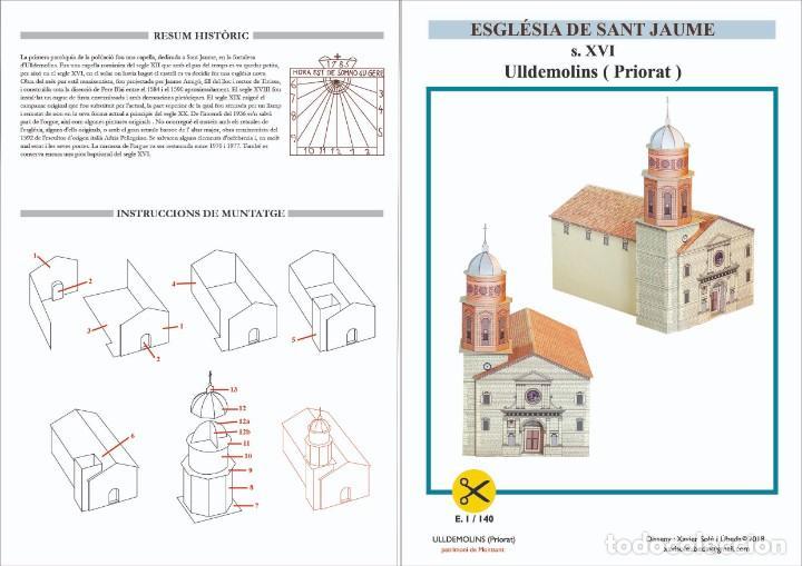 MAQUETA RECORTABLE DE LA IGLESIA DE SANT JAUME ( ULLDEMOLINS-TARRAGONA ) (Coleccionismo - Recortables - Construcciones)