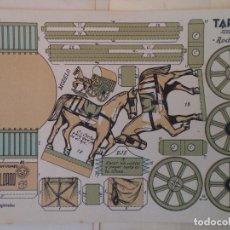 Coleccionismo Recortables: RECORTABLE EL SOLDADO SERIE 100 Nº 102 TARTANA RODANTE 24X16 CM. Lote 208050768