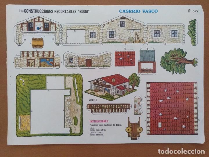 CONSTRUCCIONES RECORTABLES BOGA CASERIO VASCO (Coleccionismo - Recortables - Construcciones)